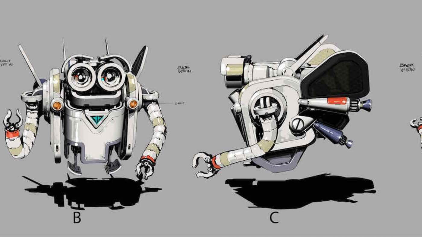 The eyes are what make robots cute.
