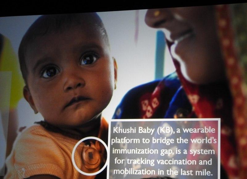 "Khushi Baby won ARM's ""wearable for good"" award."