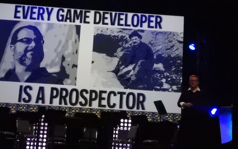 Adam Boyes says game developers are today's prospectors.
