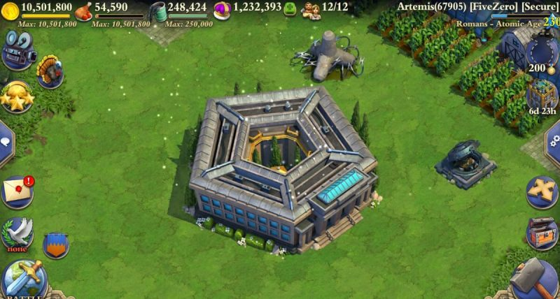 The Pentagon is one of the wonders in DomiNations Atomic Age update.