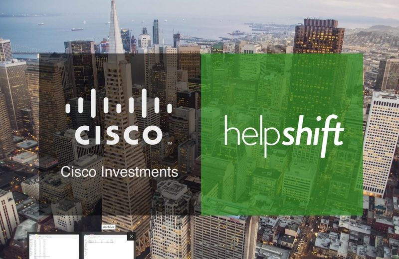 Cisco is investing in Helpshift's $25 million round.