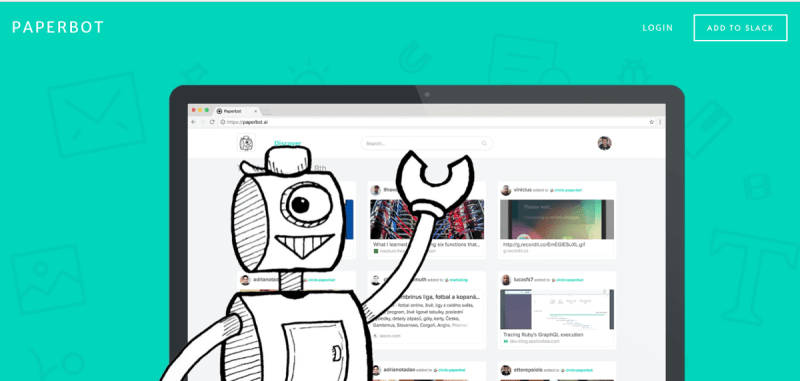 Screenshot of Paperbot website.