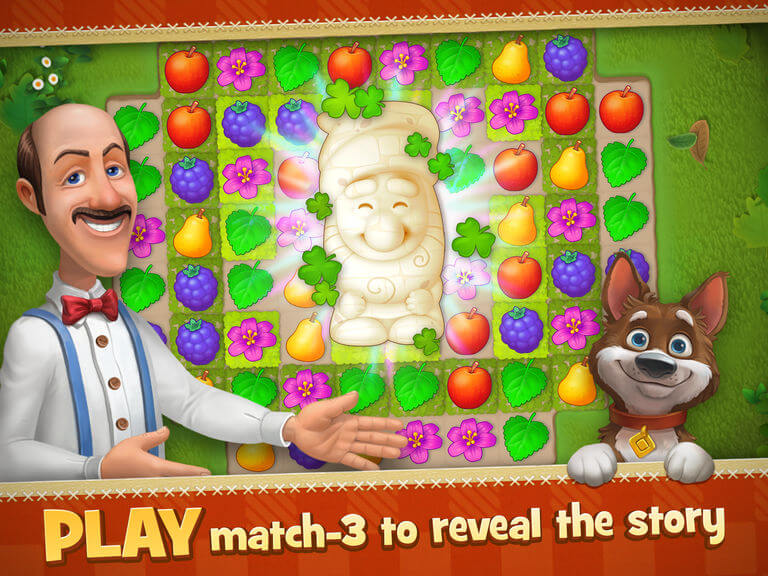 Playrix's Gardenscapes mobile game.