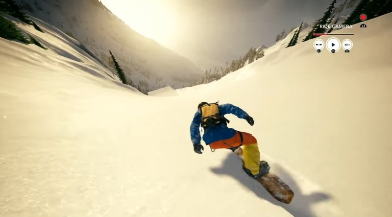 Snowboarding in Steep.
