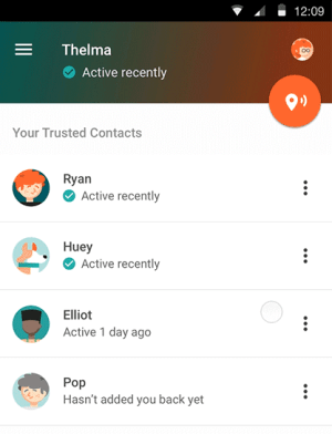 Google Trusted Contacts app