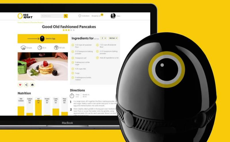 Hello Egg works with the Eggspert app to give you a home-cooking solution.