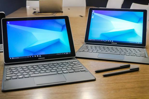 The 10-inch and 12-inch Samsung Galaxy Book.