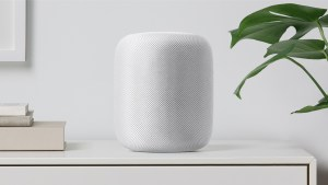 This is a picture of the Apple HomePod