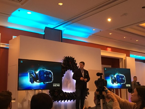 HTC unveils higher-res Vive Pro headset and WiGig wi-fi adapter