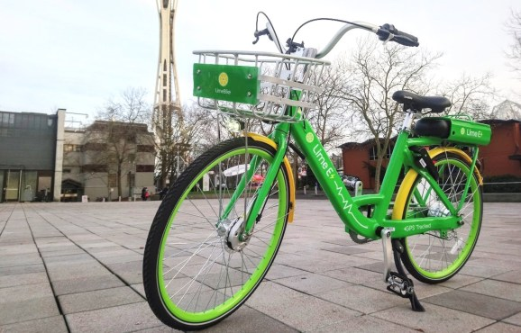 LimeBike provides motorized bikes to its dockless fleet