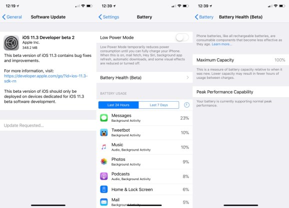batteryfeature Apple releases iOS 11.3 beta 2 with battery health monitor, says latest iPhones have hardware fixes