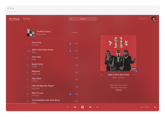 Pandora's Premium music streaming service arrives on the net