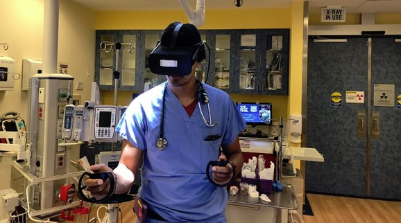 Doctors can train on how to handle medical emergencies in VR.