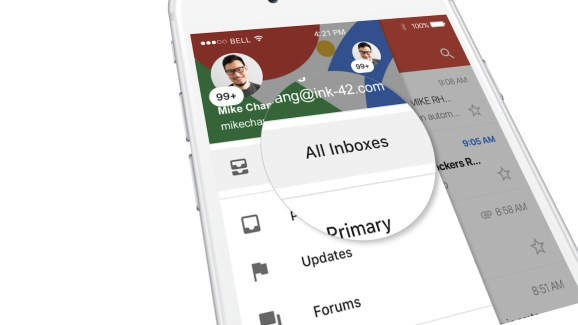 Gmail for iOS: Unified view