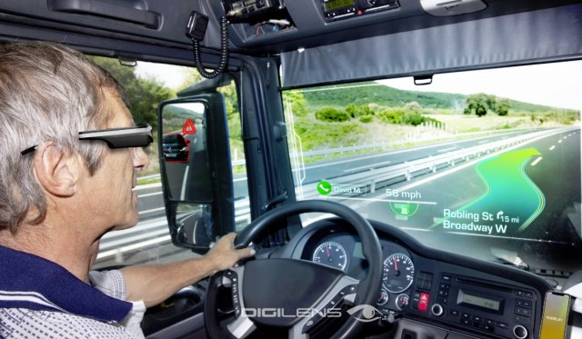 DigiLens glasses can help you navigate your car.