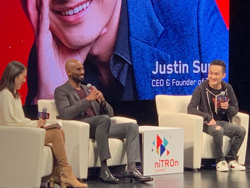 Kobe Bryant made an appearance along with Tron founder Justin Sun at the NiTron Summit.