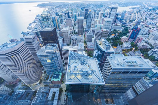 Aerial view of Seattle, Washington.