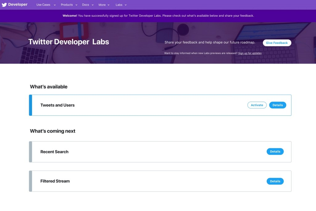 twitter developer labs available coming next - Twitter opens Developers Labs program to test new API products