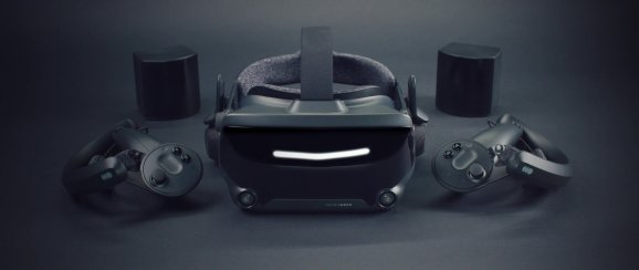 The Valve Index head-mounted display.