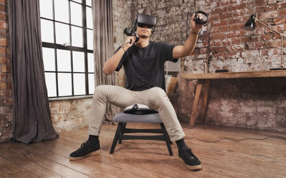 The VRGO Mini is haptics device for your ... backside.