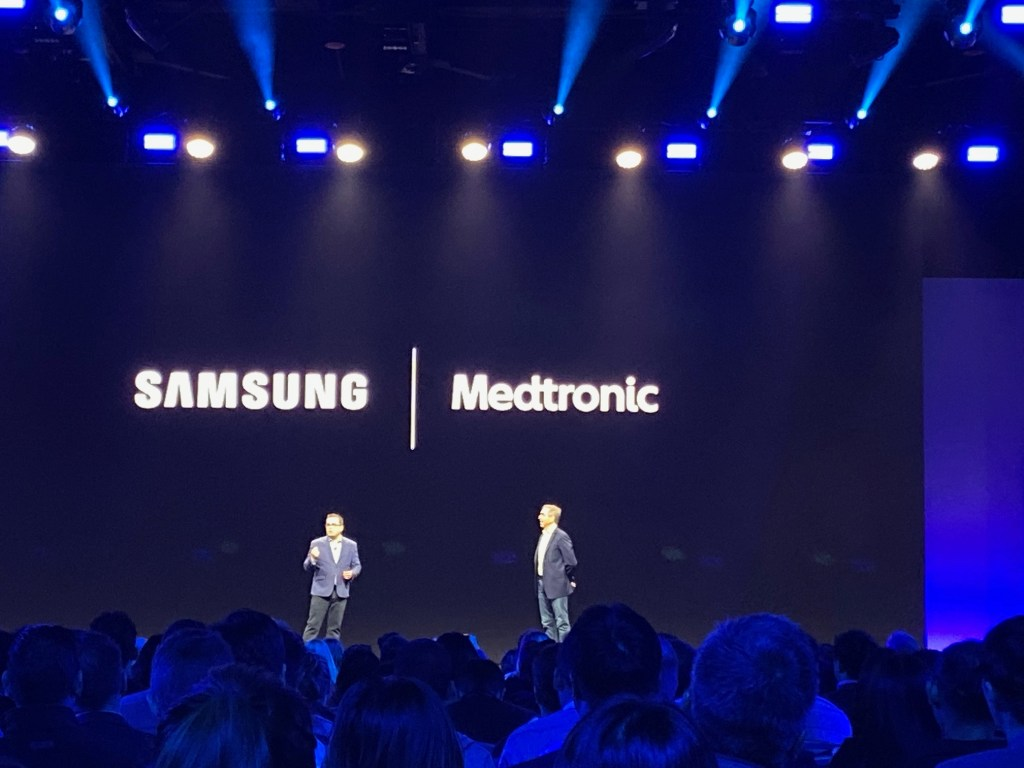John Curtis of Samsung (left) and Eric Slee of Medtronic at SDC.