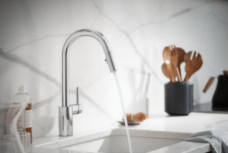 kitchen faucet works with alexa