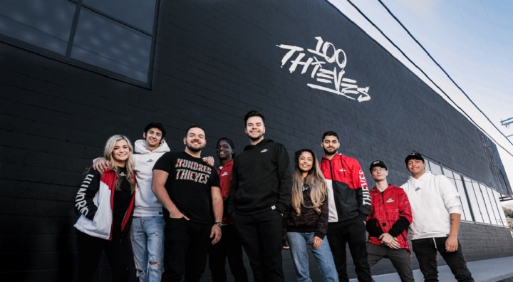 "100 Thieves Content Creators (Left to Right): Brooke ""BrookeAB"" Bond, Yan ""Classify"" Shalomov, Jack"
