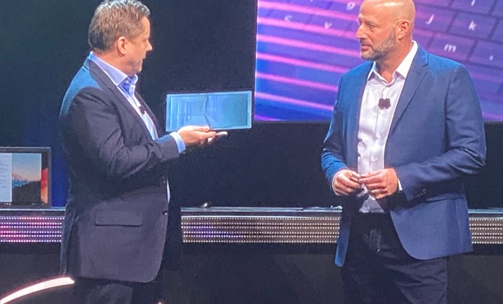 Lenovo shows a foldable laptop at Intel's CES event.