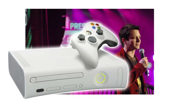 Elijah Wood revealed the Xbox 360 during an event on MTV.