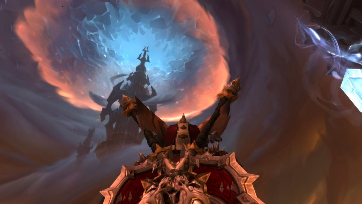 A screenshot of the sky in the Maw in Warcraft: Shadowlands