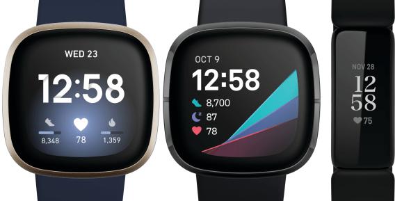 Fitbit Sense, Fitbit Versa 3, Fitbit Inspire 2