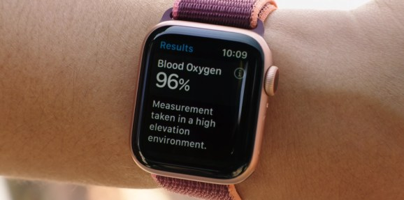 Apple Watch Series 6 has a blood oxygen monitor.