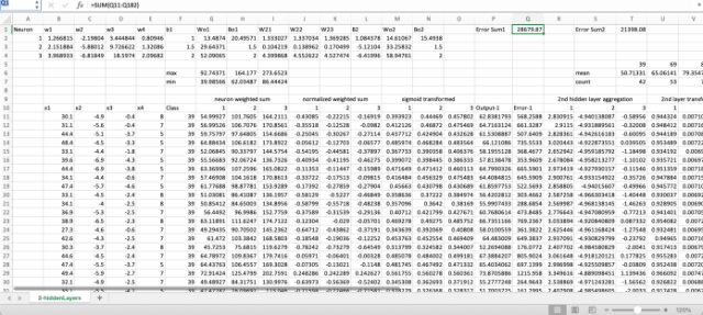 deep learning with Excel