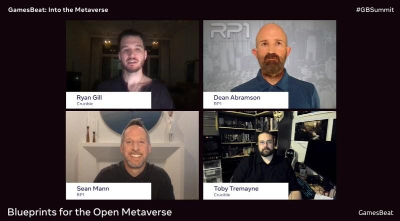 Οι ιδρυτές του RP1 Sean Mann και Dean Abramson μιλούν με τους ιδρυτές του Crucibles στο GamesBeat Summit: Into the Metaverse.