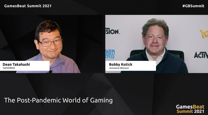 Activision Blizzard CEO Bobby Kotick talks with Dean Takahashi at GamesBeat Summit 2021.