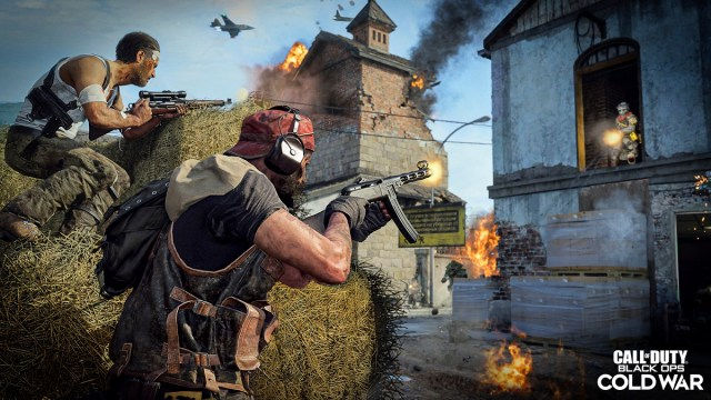 Action in Call of Duty: Black Ops -- Cold War multiplayer.