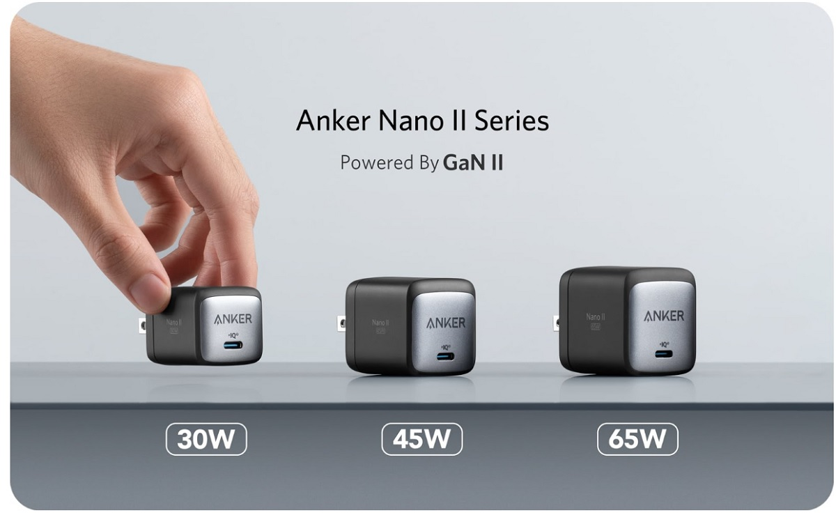 Anker's Nano II Series chargers are highly efficient.