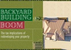 Backyard building boom