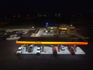 Loves Hutchinson KS Close Out Aerial Night 001