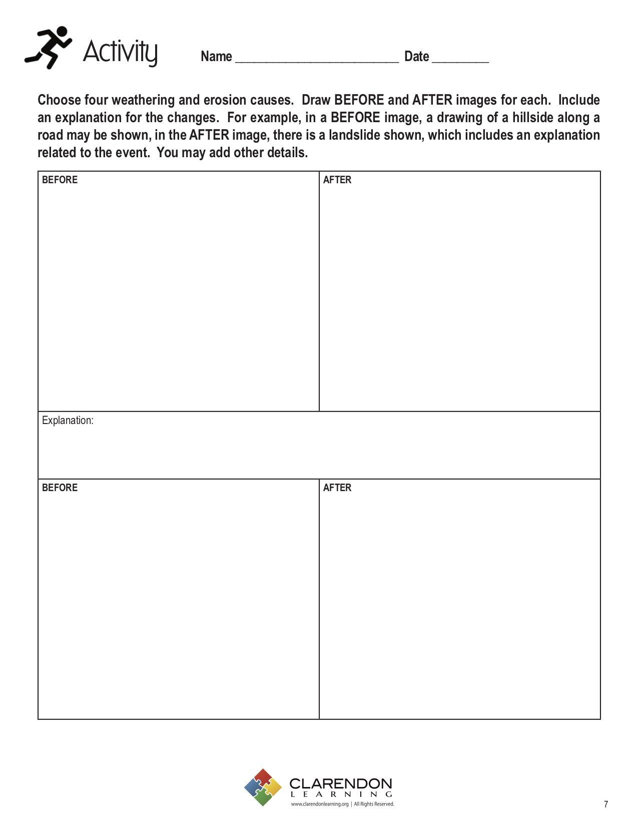 Weathering Erosion And Deposition Worksheet