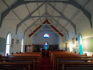 Inside the beautiful Anglican Church of Raukokore