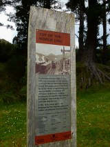 Information boards along the path