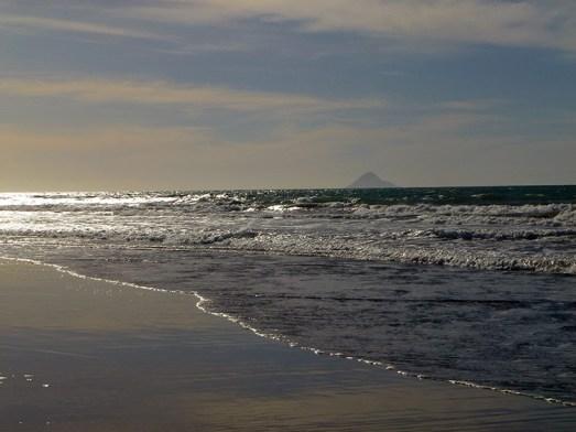 Waiotahi Beach with Whale Island
