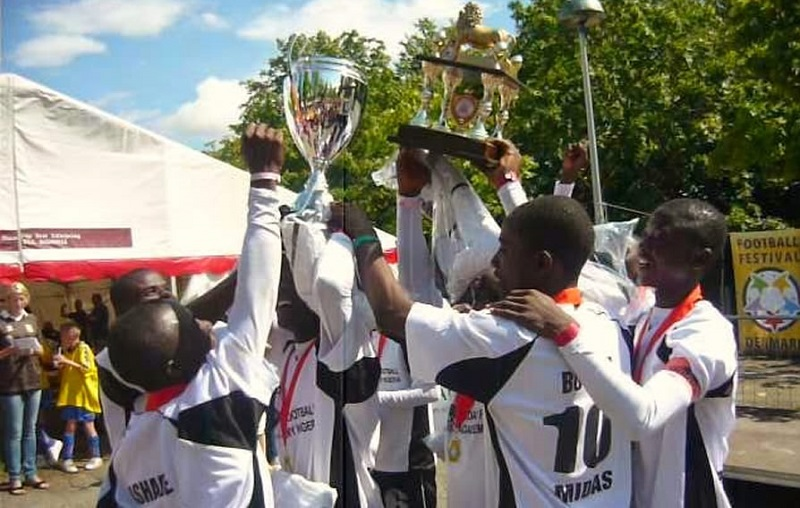 Team Midas after winning a local tournament Credit - AGF