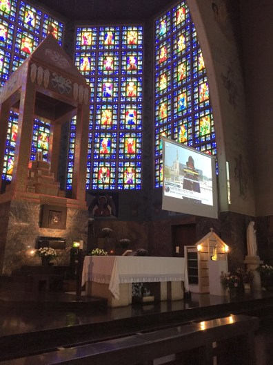 For those who could not or chose not to make the pilgrimage, many churches were broadcasting the event live.
