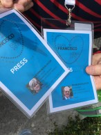 We were fortunate to have received approval for press passes.
