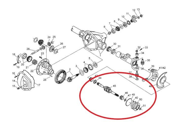 Parts 2000 Axle F350 Front
