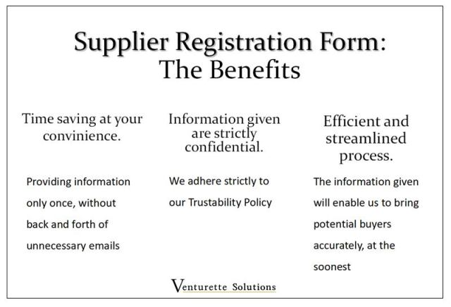 Supplier registration form