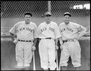 Babe Ruth and teammates