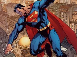 Superman on the job